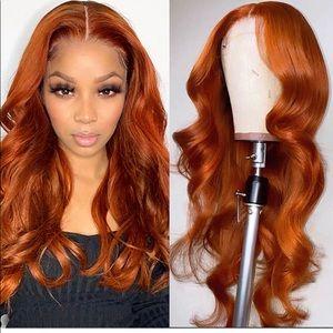 Orange lace wig